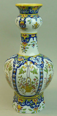 Antique French Faience Pottery Vase Possibly Gien C.1880