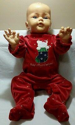 """Ideal 1960 BYE BYE BABY 25"""" Playpal Doll,Play/Reborn,Christmas Suit"""