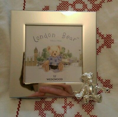 wedgewood silver christening photo frame