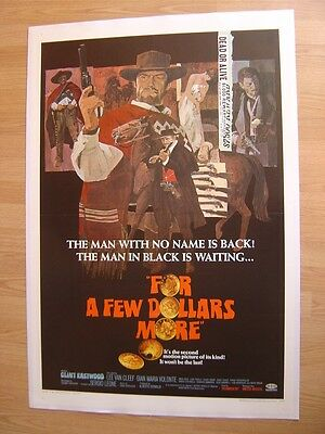 For A Few Dollars More (1967) US 1 Sheet Poster Clint Eastwood