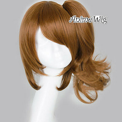 Brown Curly Medium Long Ponytail Anime Cosplay Wig For BROTHERS CONFLICT EMA