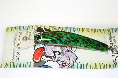 Timber Kuttafurra THERAPY 110mm  3mt Fishing Lure; frog white eyes