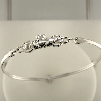 New Solvar Solvar Sterling Silver Claddagh Bangle