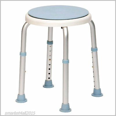 Bath Stool Shower Chair Rotating Seat Medical Disability Aid Portable Adjustable