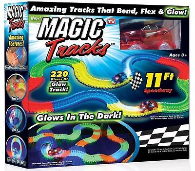 Hot! Magic Tracks The Amazing Racetrack that Can Bend Flex Glow Kids Xmas Gift