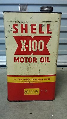 Early Shell x100 One Gallon oil tin