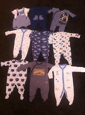 Baby Boys 100% Next Bundle of clothes Sz Upto 1 months/Newborn Outfits Sleepsuit