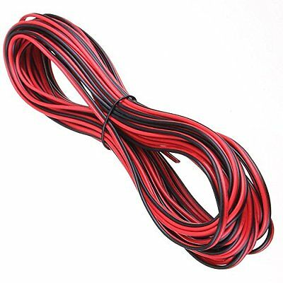 50 Meters 2 Core Black Red 12V 12 Volt Extension Cable Amp Car Auto Van Boat Led