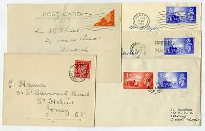 Channel Islands Jersey Guernsey x 5 Covers and Card Inc Bisect and First Day x 2