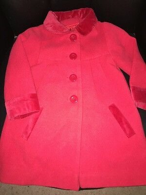 Girls Mothercare Red Coat 2/3