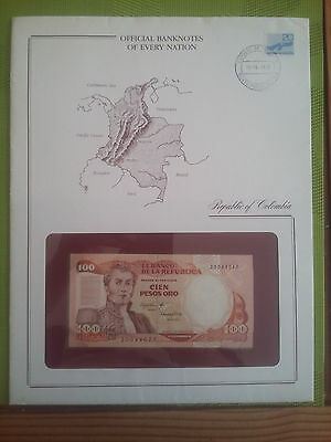 billet 100 pesos colombie