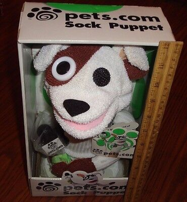 pets.com Sock Puppet dog never removed from original box