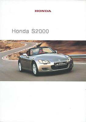 Honda S2000 UK Market Brochure June 2000 44 Pages inc Technical Specifications