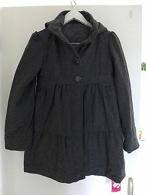 BNWT Girls M&S Charcoal Grey School Winter Coat Age 11-12 Years