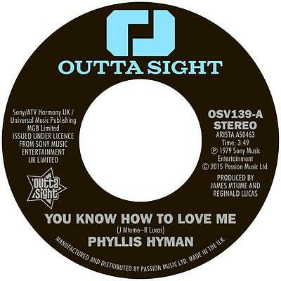 "PHYLLIS HYMAN * You Know How To Love Me + Under Your Spell 7"" Neu *Outta Sight"