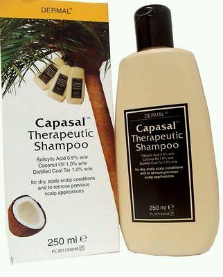 4 X Capasal Therapeutic Shampoo 250Ml For Dry Itchy Scalp Psoriasis Coconut Oil