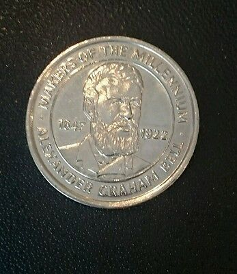 2000 Makers of the Millennium Coin, Alexander Bell, Collectable, House Clearance