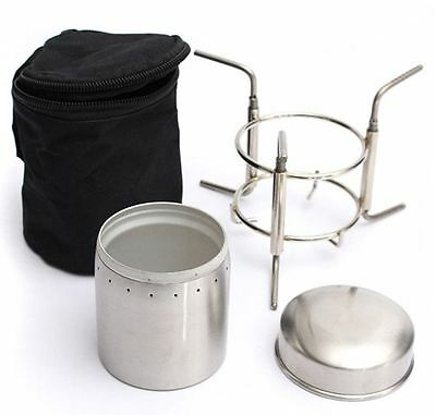 Ultralight Spirit Burner Alcohol Simon Stove Outdoor Furnace with Stand Portable