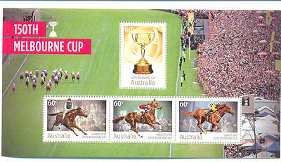 Australia-Melbourne Cup Horseracing min sheet mnh-Horses-