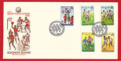 Solomon Islands 1981 - South Pacific Games - set on FDC.