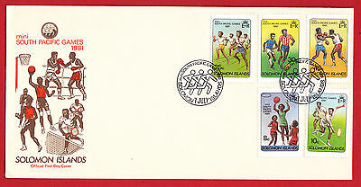 Solomon Islands - 1981 - South Pacific Games - set on FDC.