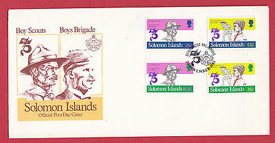 Solomon Islands - 1982 - Boys Brigade and Scout Movement - part set on FDC.