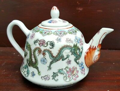 Chinese vintage dragon decorated teapot