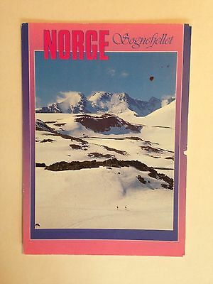 NORWAY summerskiing at sognefjellet POSTCARD POSTED AT THE DOVER CRUISE TERMINAL