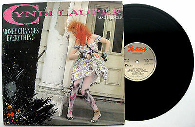 CYNDI LAUPER Money Changes Everything - 12'' Spanish Spain Unique Sleeve 1984