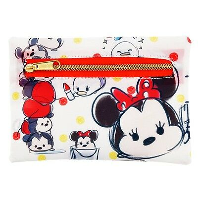 Japan Disney TSUM TSUM Mickey & Friends Wallet Purse Bag Card Holder Tissue Bag