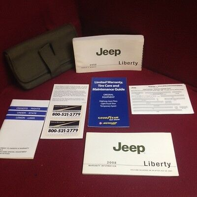 2008 Jeep Liberty Owners Manual with supplements and case