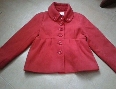 Girls Red Next Winter Coat Age 5-6