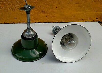 A Pair of Reclaimed Vintage Industrial Appleton Vapor Tight Pendant Lights. Nice