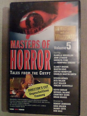 MASTERS OF HORROR (Tales From The Crypt) Vol. 1 - 5 | Original VHS