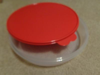 """Tupperware Pie Cookies Cupcake & Pizza Container 12"""" Large Round  POPSICLE SEAL"""