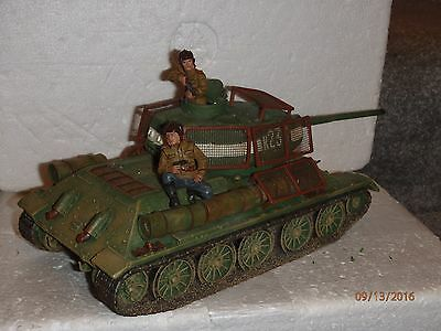 King & Country WW2 RA 013 Russian T-34/85 Tank with figures set SUPER RARE