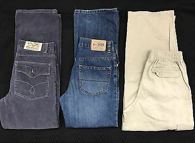 Boys Size 12 Jeans Pants 3 Pair Mixed Lot Assortment Clothes Fall Winter
