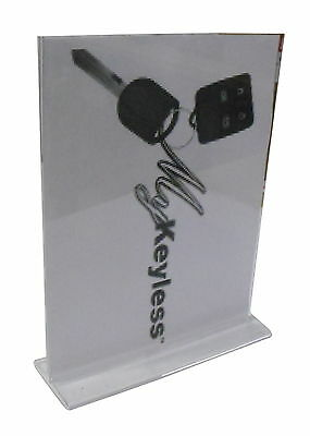 """New in Box - Lot x 4 ULINE 8.5 x 11"""" T-Style Clear Sign Holders - S-15655"""