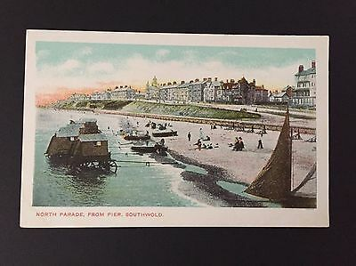 Postcard Of North Parade Southwold from the Pier