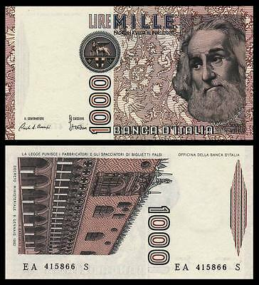 Italy 1,000 Lire 1982  P-109a  UNC CURRENCY BANKNOTE PAPER MONEY  Marco · Polo