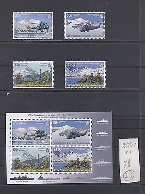 South Georgia 2007 set+s/sh.25 Years Freedom  Army Operation .See scan.