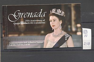 Grenada 1977 MNH booklet.25 Years Coronation.See scan.
