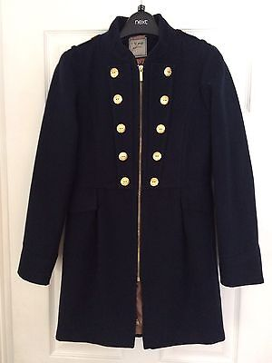 Gorgeous Next Girls Navy Military Coat Aged 13-14