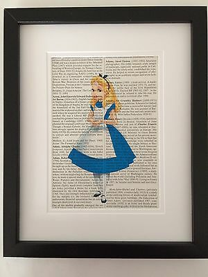 ALICE in WONDERLAND - Dictionary Book Page Print - Recylced Vintage Page