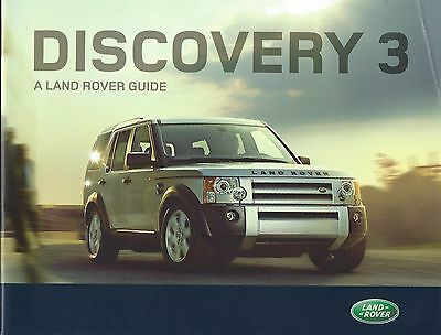 Land Rover Discovery 3 UK Brochure 2007 includes TDV6 GS XS SE HSE Manual Auto