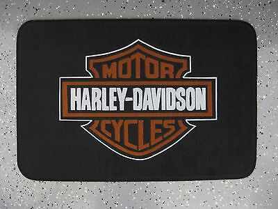 """HARLEY DAVIDSON 18"""" x 27"""" DOOR MAT """"GREAT GIFT FOR THE CAVE"""""""