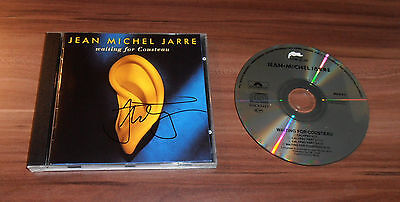 Jean Michel Jarre, original signed CD Cover *Waiting for Cousteau* + CD