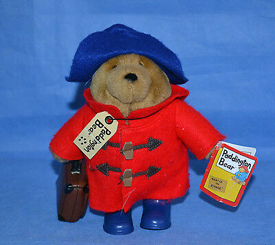 Cute Paddington Bear/blue Rubber Boots, Trunk, Red Coat/7''
