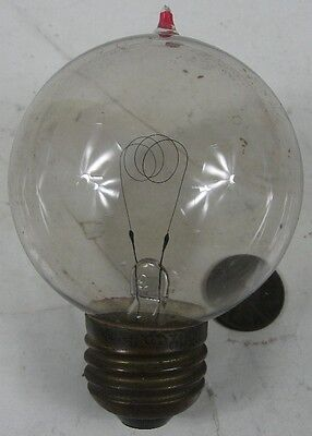 """Working Antique Light Bulb Pointy Top Germany 3 1/3"""" Tall"""