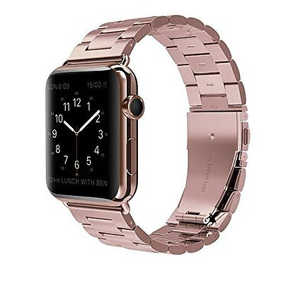 Apple Watch Rose Gold 38mm Series 2 Strap Stainless Steel Replacement Wrist Band